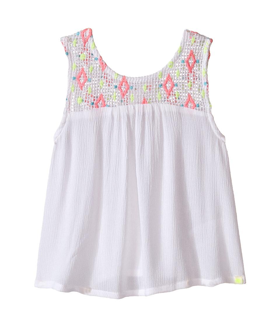 Lucky Brand Kids - Rio Grand Tank Top (Toddler) (Bright White) Girl's Sleeveless