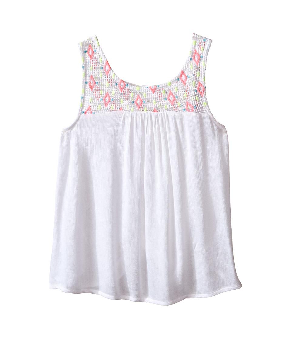 Lucky Brand Kids - Rio Grand Tank Top (Big Kids) (Bright White) Girl's Sleeveless