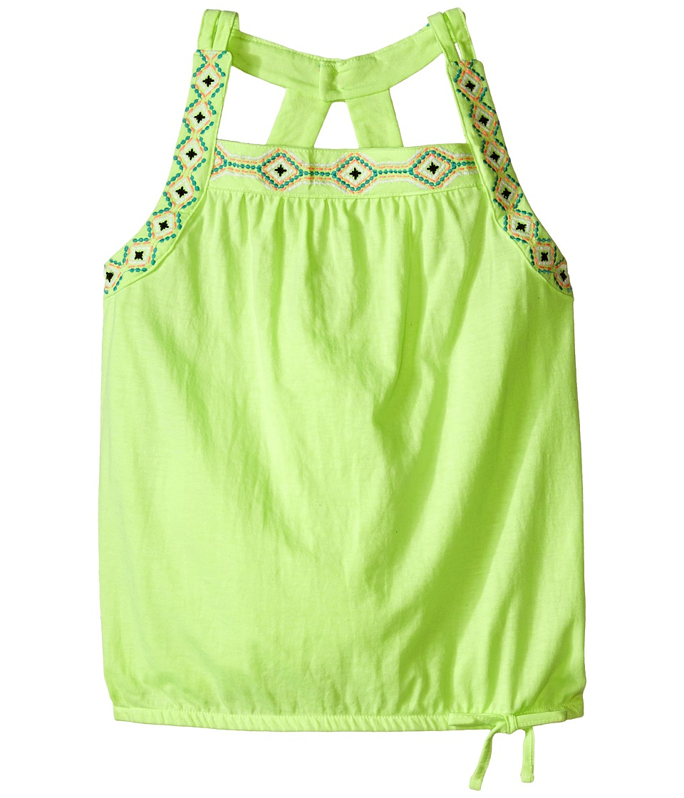 Lucky Brand Kids - Cut Out Tank Top (Big Kids) (Star Fruit) Girl's Sleeveless