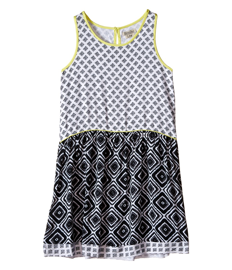 Lucky Brand Kids - Mixed Print Dress (Big Kids) (Pirate Black) Girl's Dress