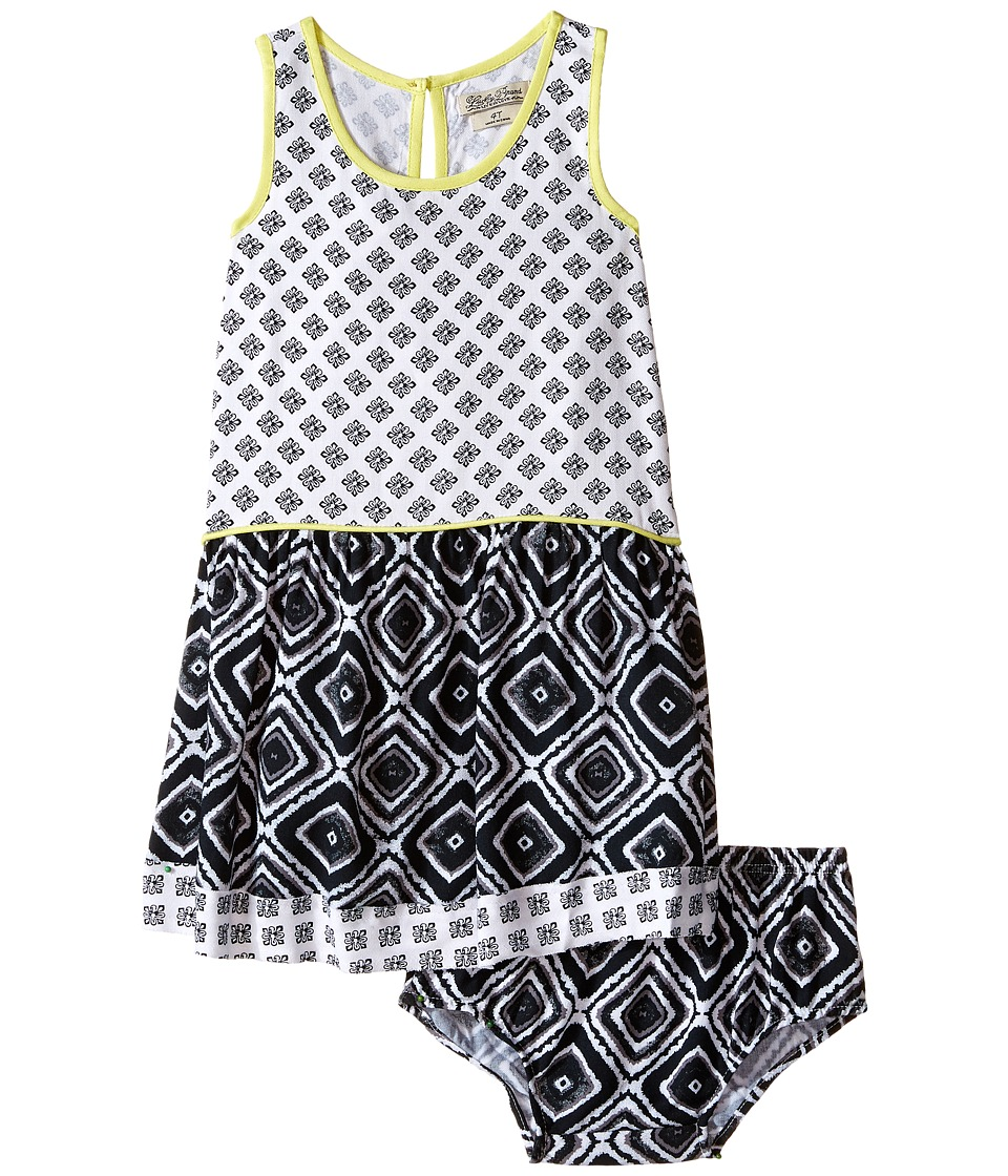 Lucky Brand Kids - Mixed Print Dress (Toddler) (Pirate Black) Girl's Dress