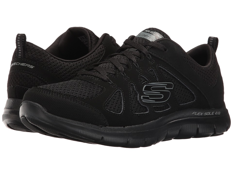 SKECHERS - Flex Appeal 2.0 - Simplistic (Black) Women's Shoes