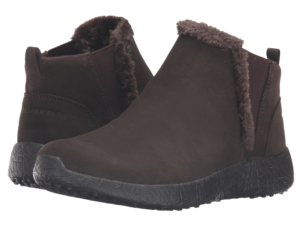 SKECHERS - Burst - Winter Lights (Chocolate) Women's Pull-on Boots