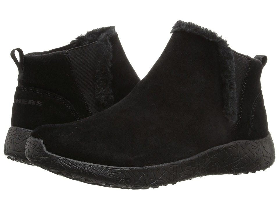 SKECHERS - Burst - Winter Lights (Black) Women's Pull-on Boots