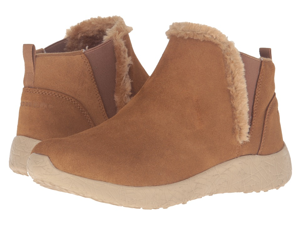 SKECHERS - Burst - Winter Lights (Chestnut) Women's Pull-on Boots