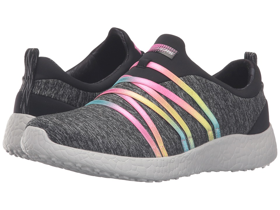 SKECHERS - Burst - Alter Ego (Black/Multi) Women's Slip on Shoes