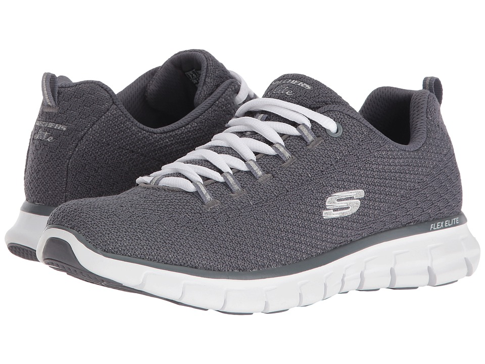 SKECHERS - Synergy - Safe Sound (Gray) Women's Shoes
