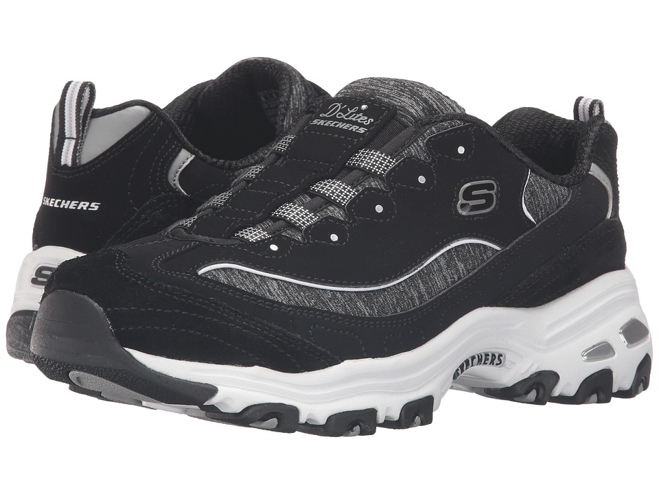 SKECHERS - D'Lites - Integrity (Black/White) Women's Shoes