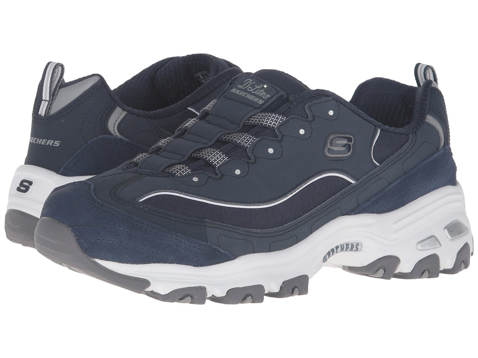 SKECHERS - D'Lites - Integrity (Navy/White) Women's Shoes