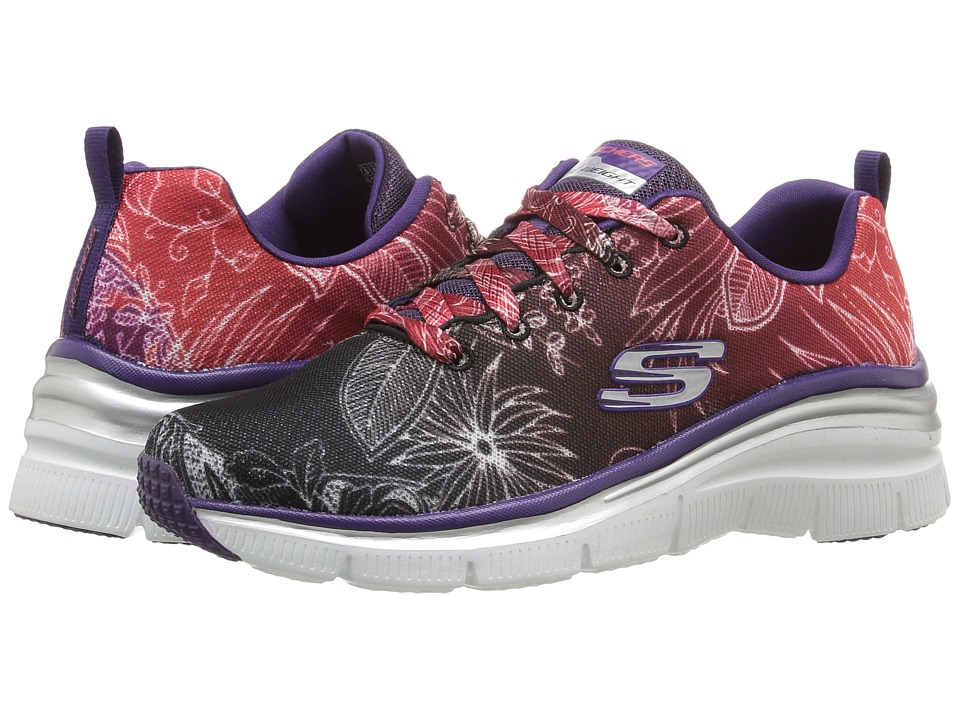 SKECHERS - Fashion Fit - Garden Parties (Black/Red) Women's Shoes
