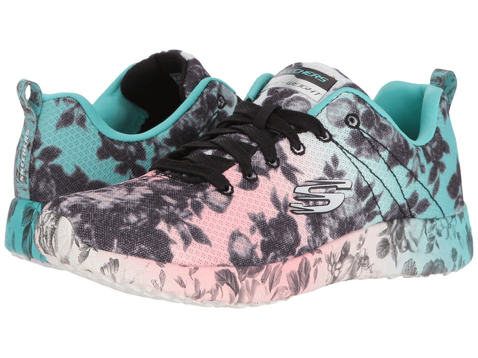 $37.99 More Details · SKECHERS - Burst - Wild Rose (Black/Multi) Women's  Shoes