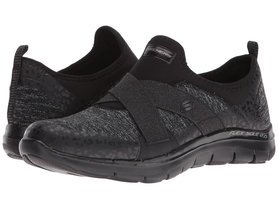 SKECHERS - Flex Appeal 2.0 - Fashion Frenzy (Black) Women's Shoes