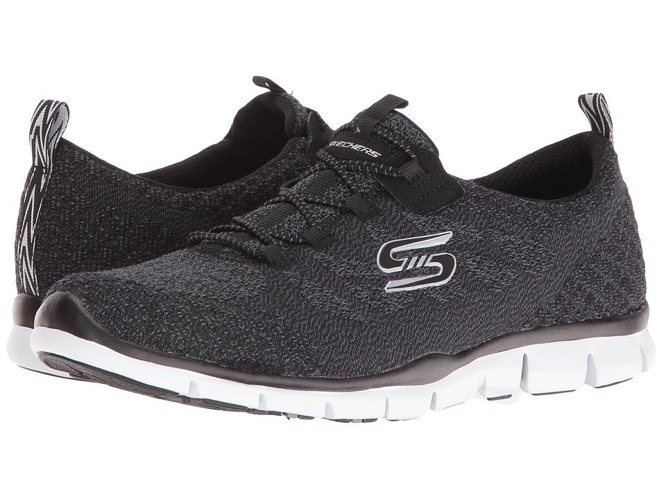 SKECHERS - Gratis - Sleek Chic (Black/White) Women's Shoes