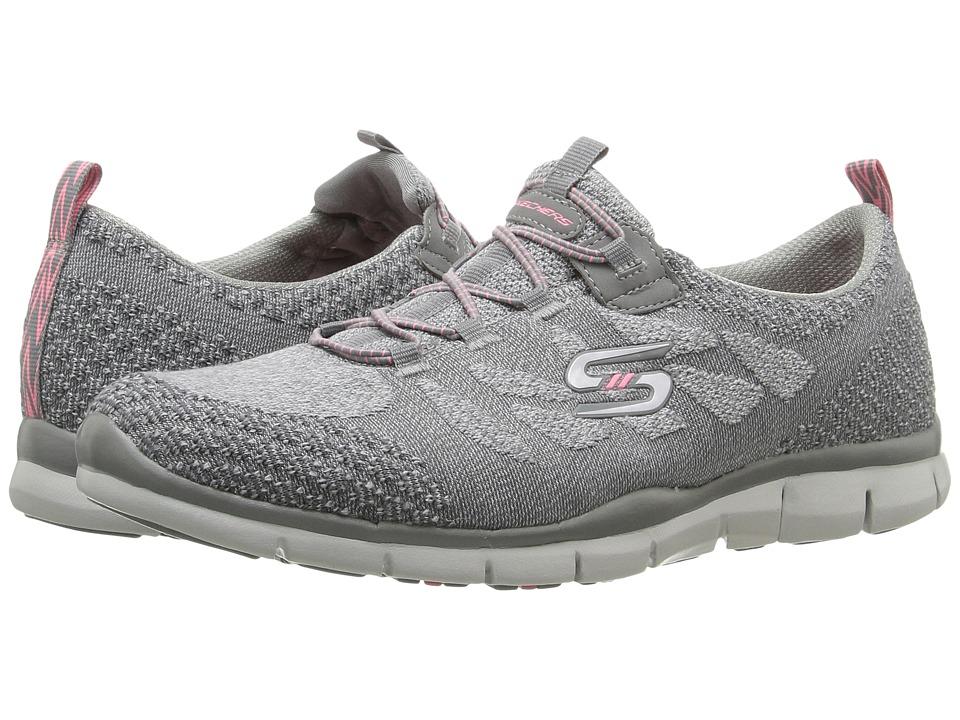SKECHERS - Gratis - Sleek Chic (Gray) Women's Shoes