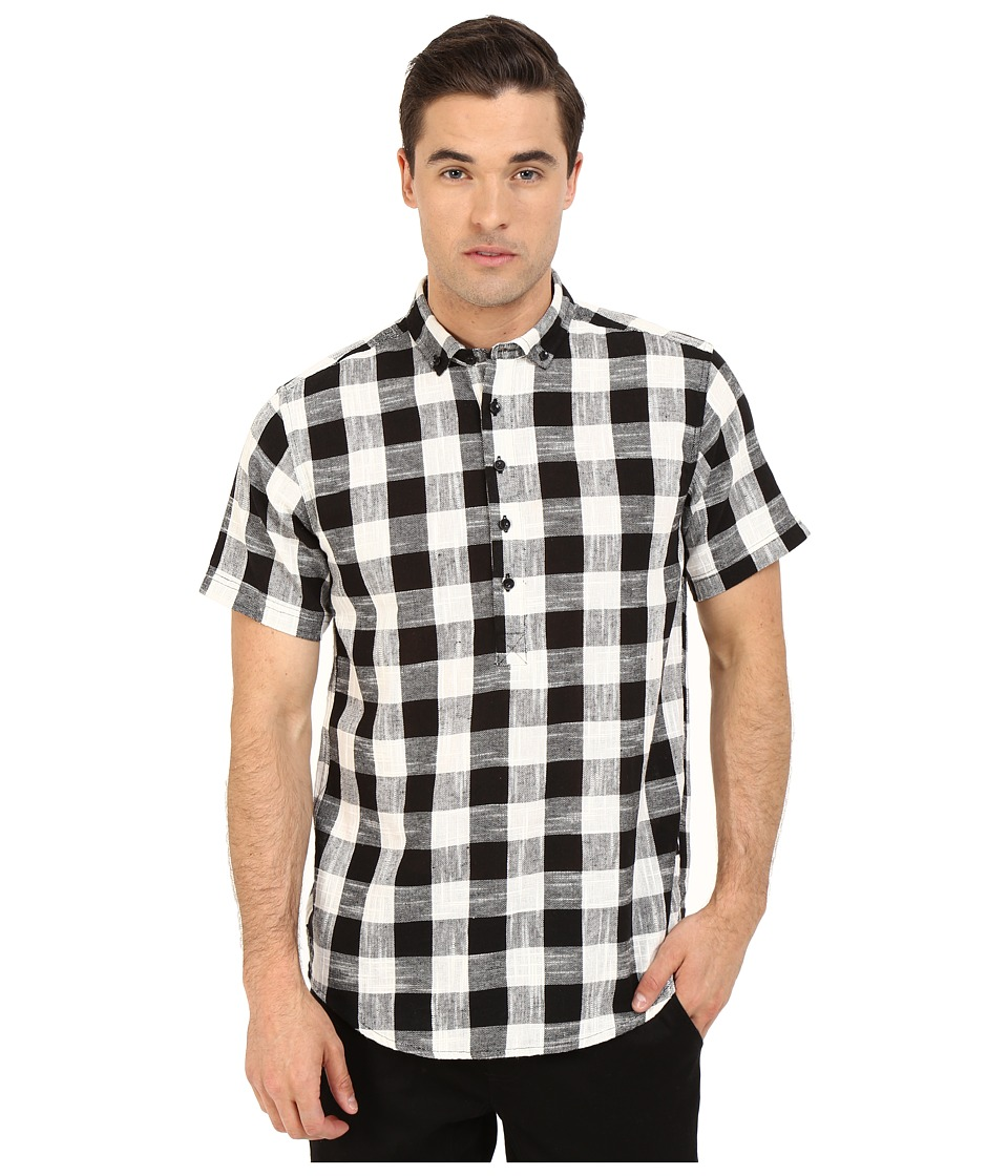 Publish - Ace - Popover Woven (Black) Men's Short Sleeve Button Up