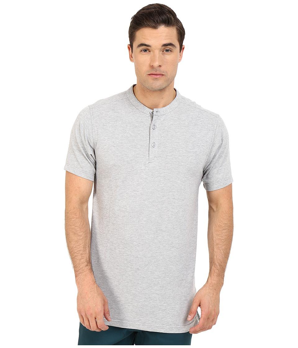 Publish - Chan - Mandarin Collar Polo Knit Tee (Heather) Men's T Shirt