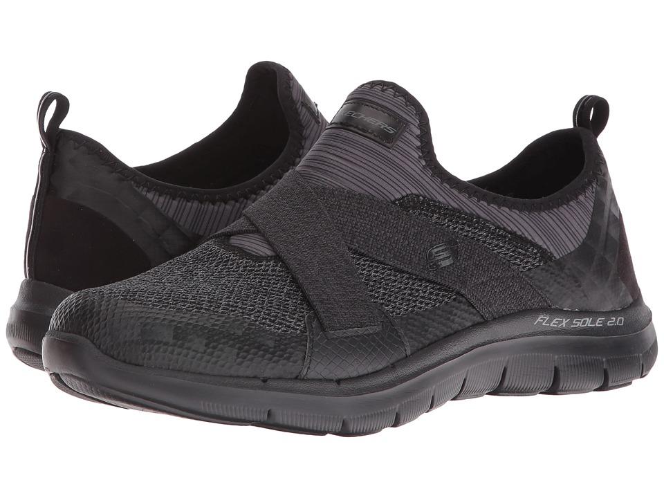 SKECHERS - Flex Appeal 2.0 - New Image (Black) Women's Slip on Shoes
