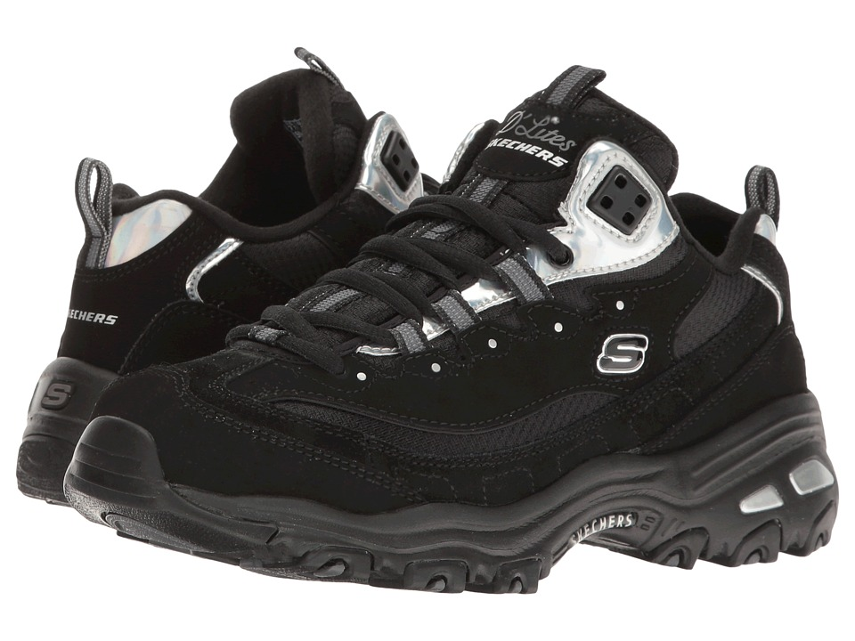 SKECHERS - D'Lites - Wardrobe Change (Black/Silver) Women's Shoes