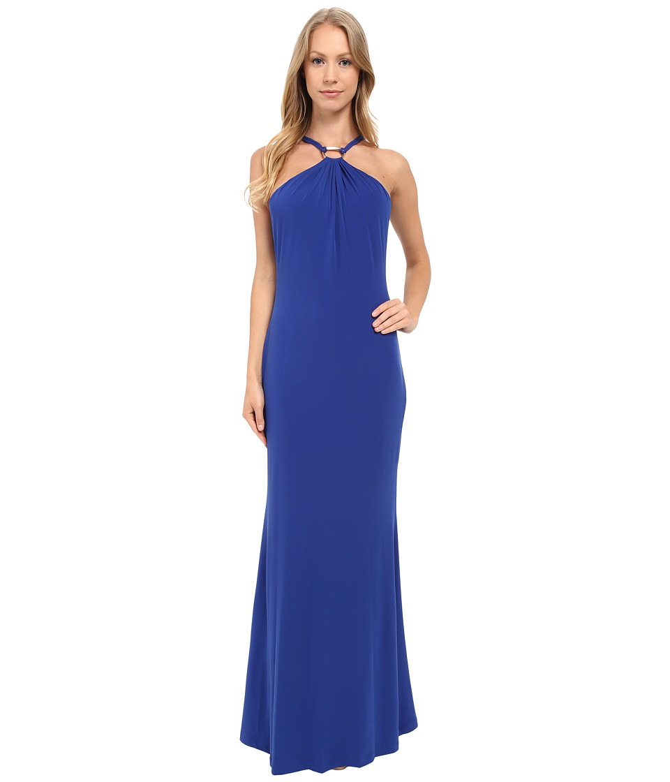 Calvin Klein - Halter Neck Maxi Dress CD5A1H4C (Atlantis) Women's Dress