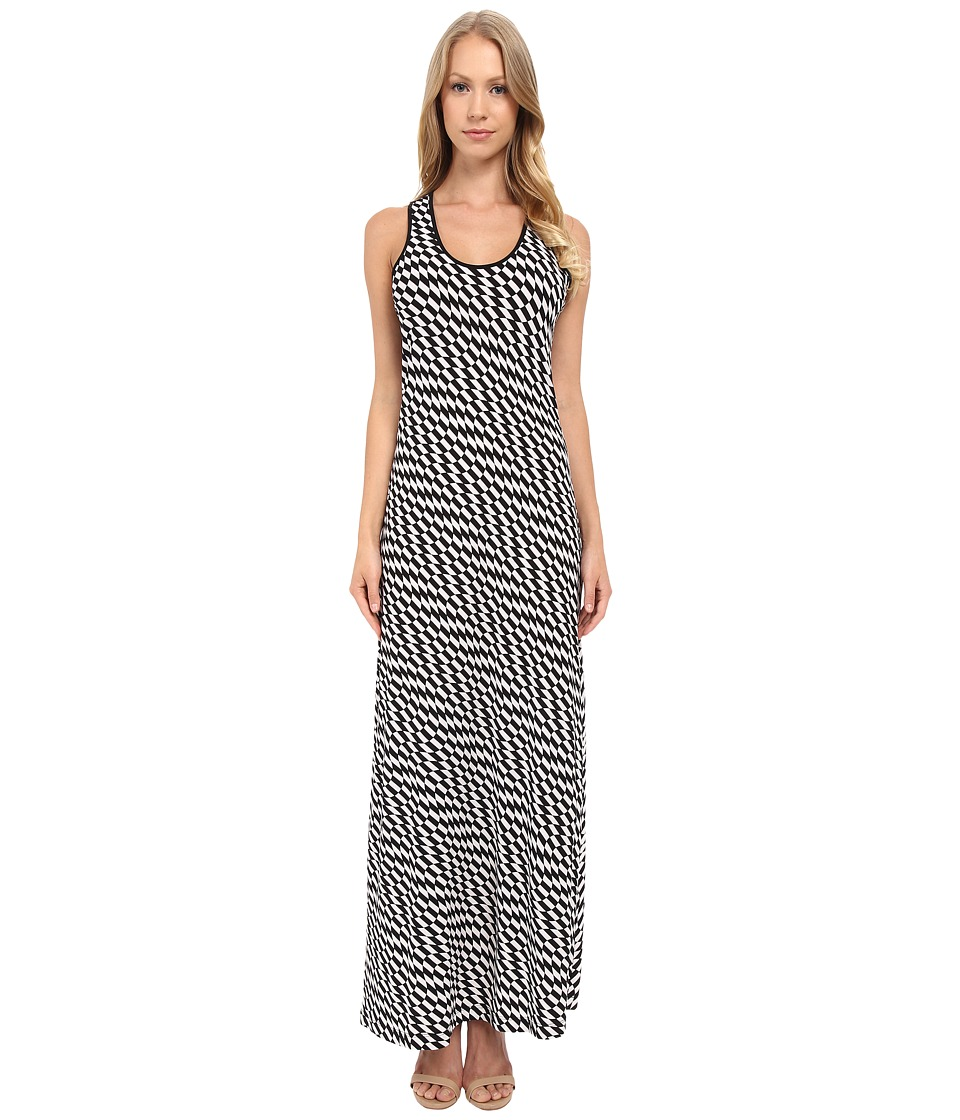 Calvin Klein - Maxi Dress with Razor Back CD4A8HER (Black/White) Women's Dress