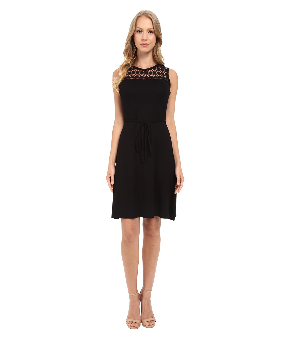 Calvin Klein - Lace Yoke Dress CD5N15B8 (Black) Women's Dress