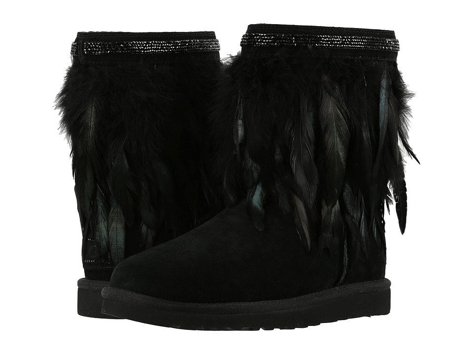 UGG - Classic Short Peacock (Black) Women's Cold Weather Boots
