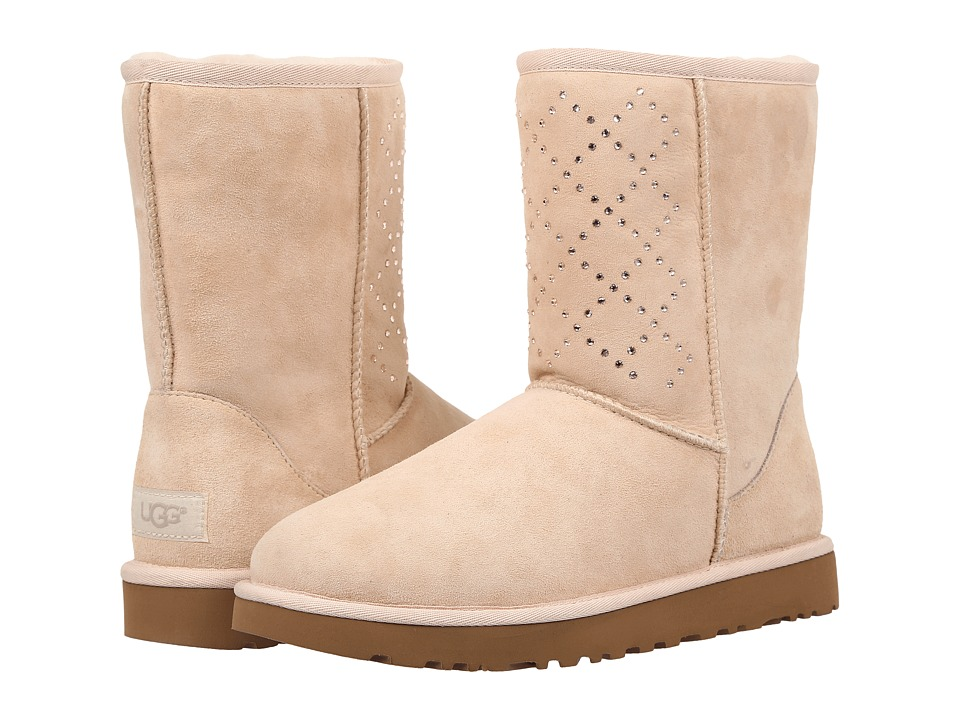 UGG - Classic Short Crystal Diamond (Freshwater Pearl) Women's Cold Weather Boots