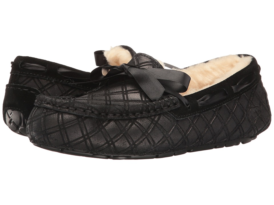 UGG - Dakota Double Diamond Holiday Gift Box (Black) Women's Lace Up Moc Toe Shoes