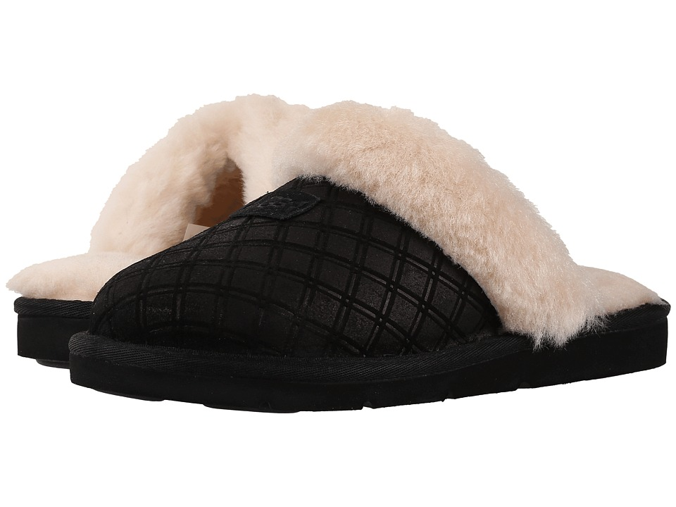 UGG - Cozy Double Diamond (Black) Women's Slippers
