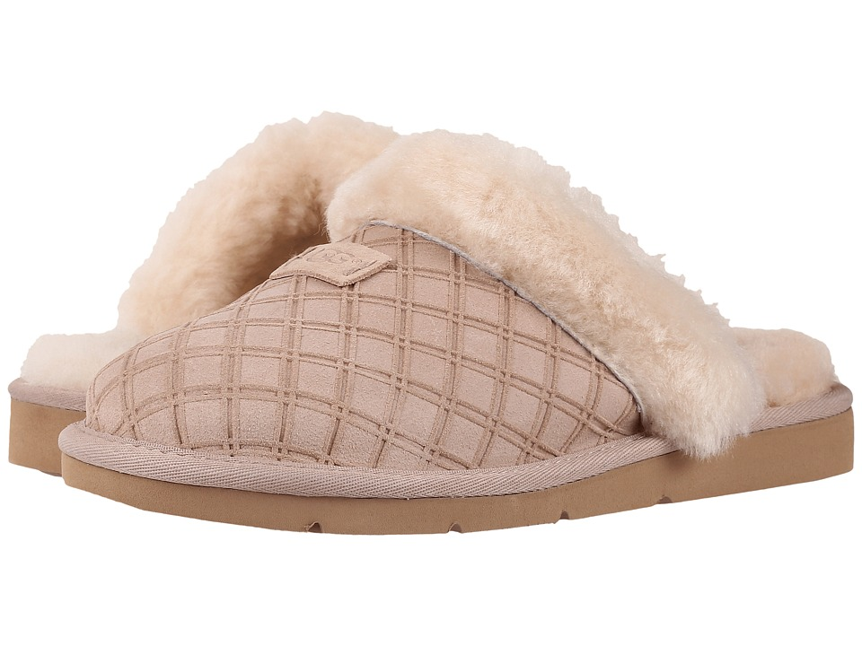 UGG - Cozy Double Diamond (Freshwater Pearl) Women's Slippers