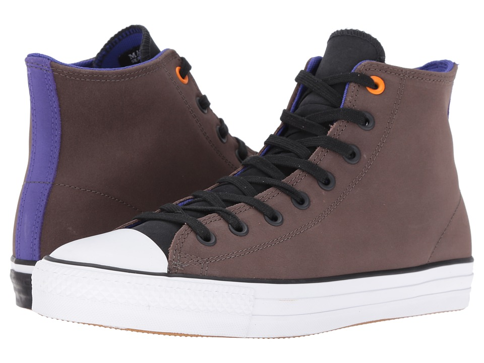 Converse Chuck Taylor All Star Pro Leather (Dark Chocolate/Black/Candy Grape) Classic Shoes