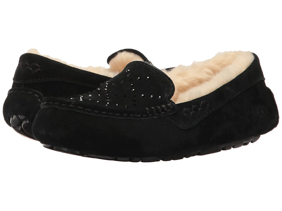 UGG - Ansley Crystal Diamond Holiday Gift Box (Black) Women's Slip on Shoes
