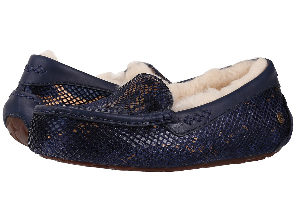 UGG - Ansley Exotic Velvet (Indigo) Women's Slip on Shoes