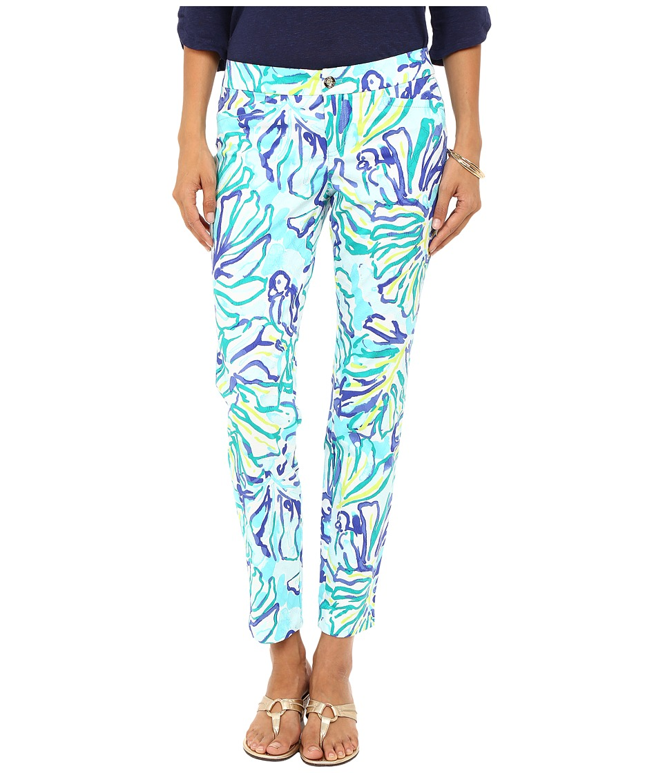 Lilly Pulitzer - Kelly Skinny Ankle Pants (Pool Blue Stay Cool) Women's Casual Pants