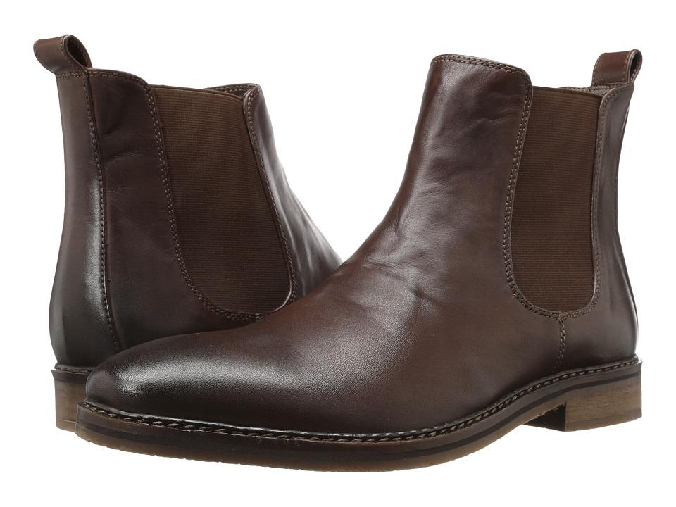 Nunn Bush - Hampton Plain Toe Double Gore Slip-On Boot (Brown) Men's Shoes
