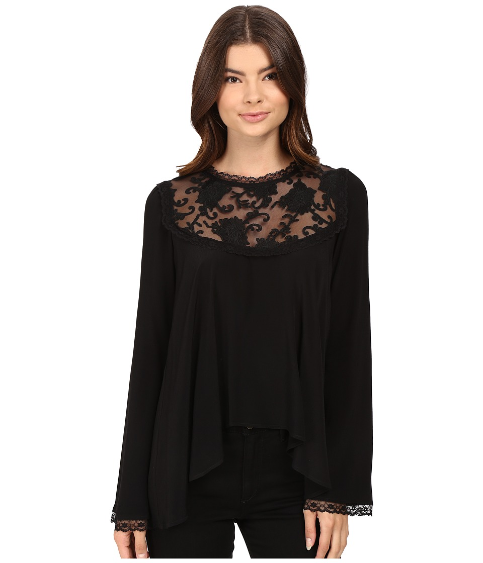For Love and Lemons - Ellery Blouse (Black) Women's Blouse