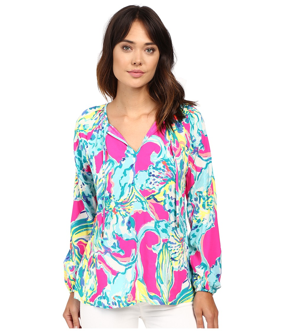 Lilly Pulitzer - Willa Top (Magenta Hottie) Women's Clothing