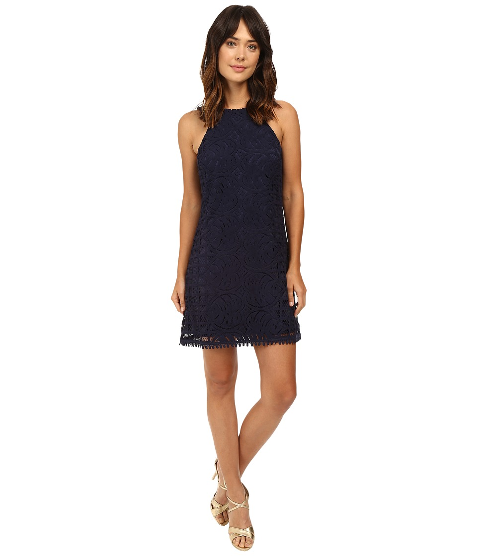 Lilly Pulitzer - Mango Shift Dress (True Navy Leafy Palm Lace) Women's Dress