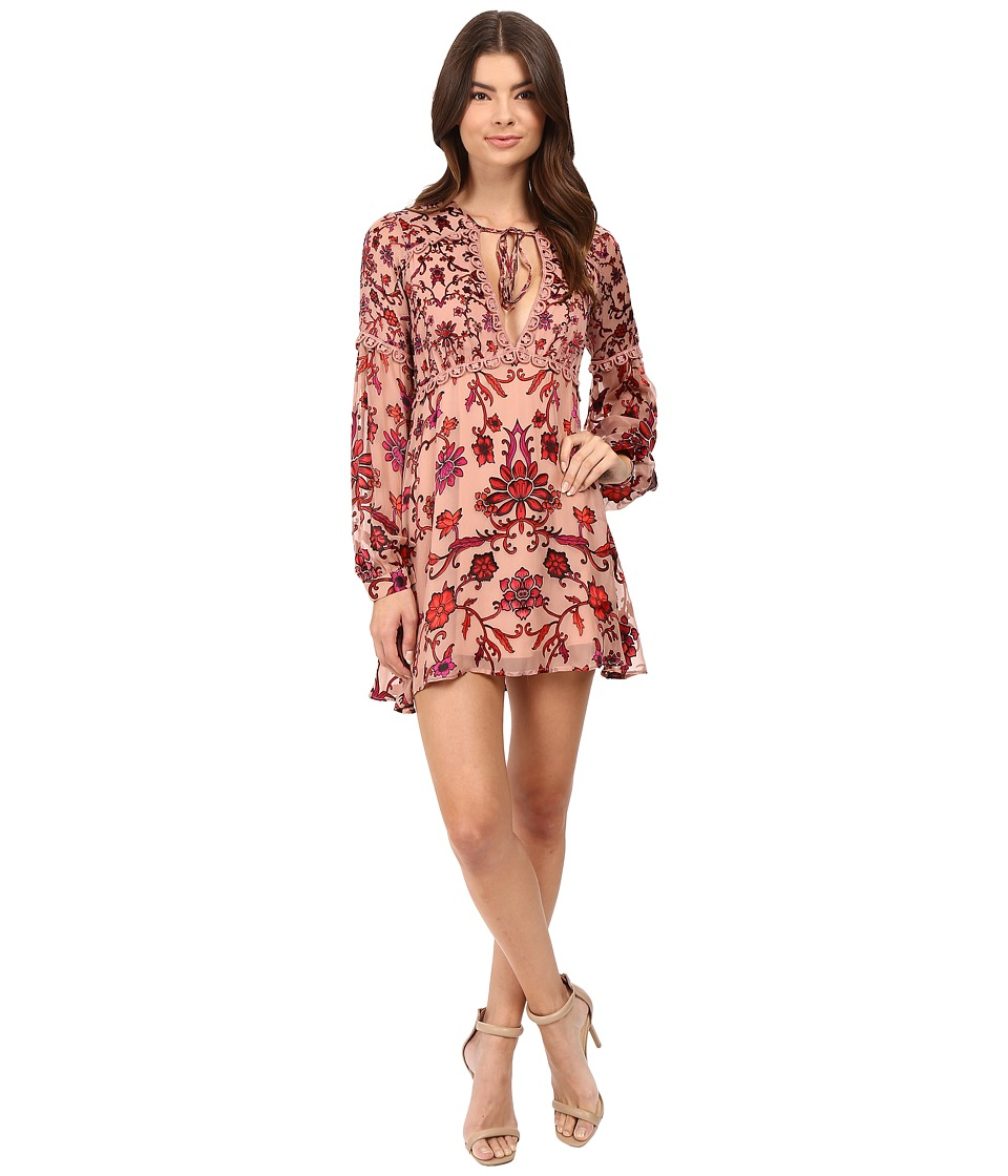 For Love and Lemons - Saffron Mini Dress (Sunset Floral) Women's Dress