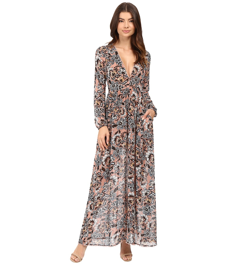 For Love and Lemons - Gracie Maxi Dress (Nude Floral) Women's Dress