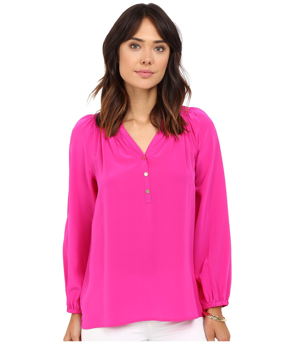 Lilly Pulitzer - Elsa Top (Magenta) Women's Blouse