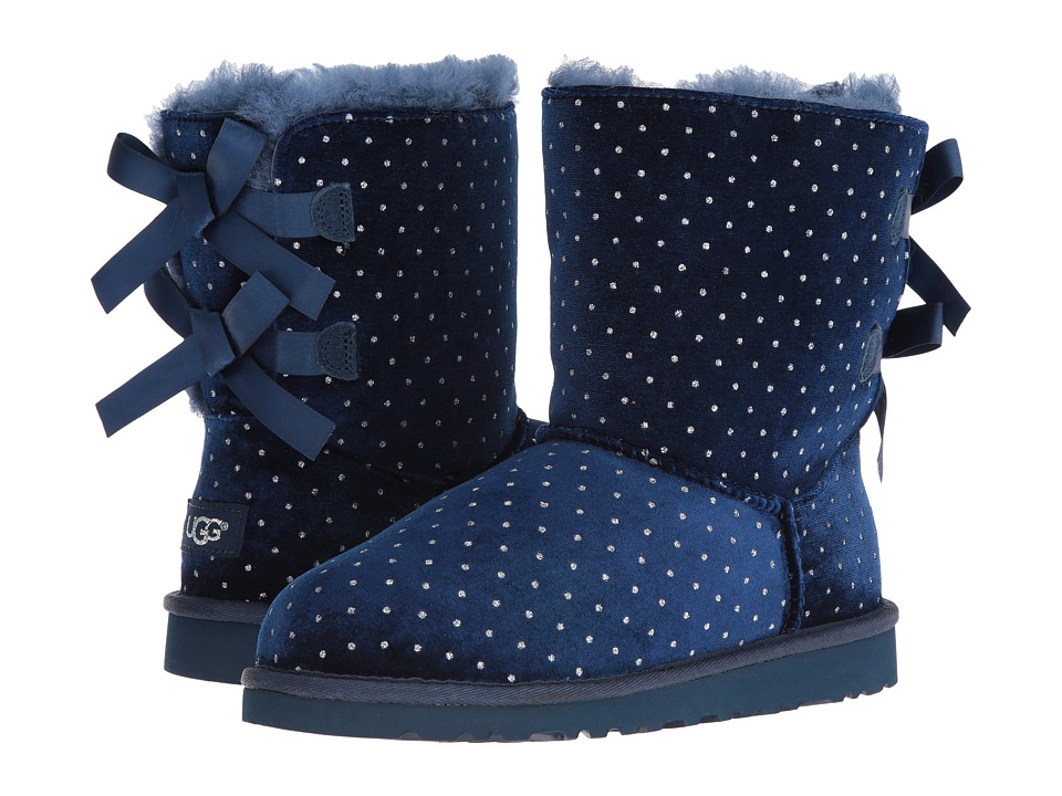 UGG Kids - Bailey Bow Starlight (Big Kid) (Navy) Girls Shoes