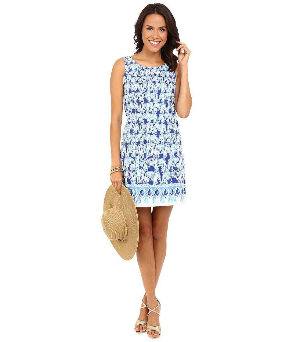 Lilly Pulitzer - Cathy Shift Dress (Bomber Blue Get Trunky Engineered) Women's Dress