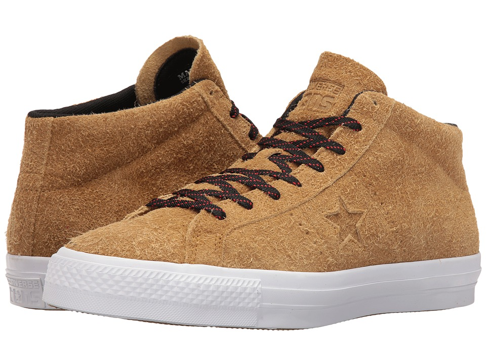 Converse - One Star Pro Suede Mid (Antiqued/Black/White) Shoes