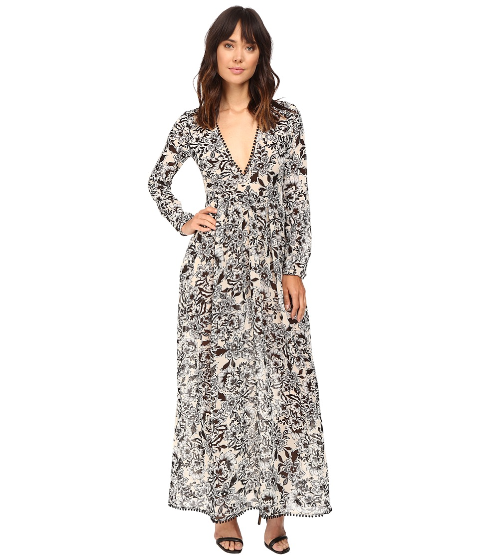 For Love and Lemons - Gracie Maxi Dress (Cream Floral) Women's Dress
