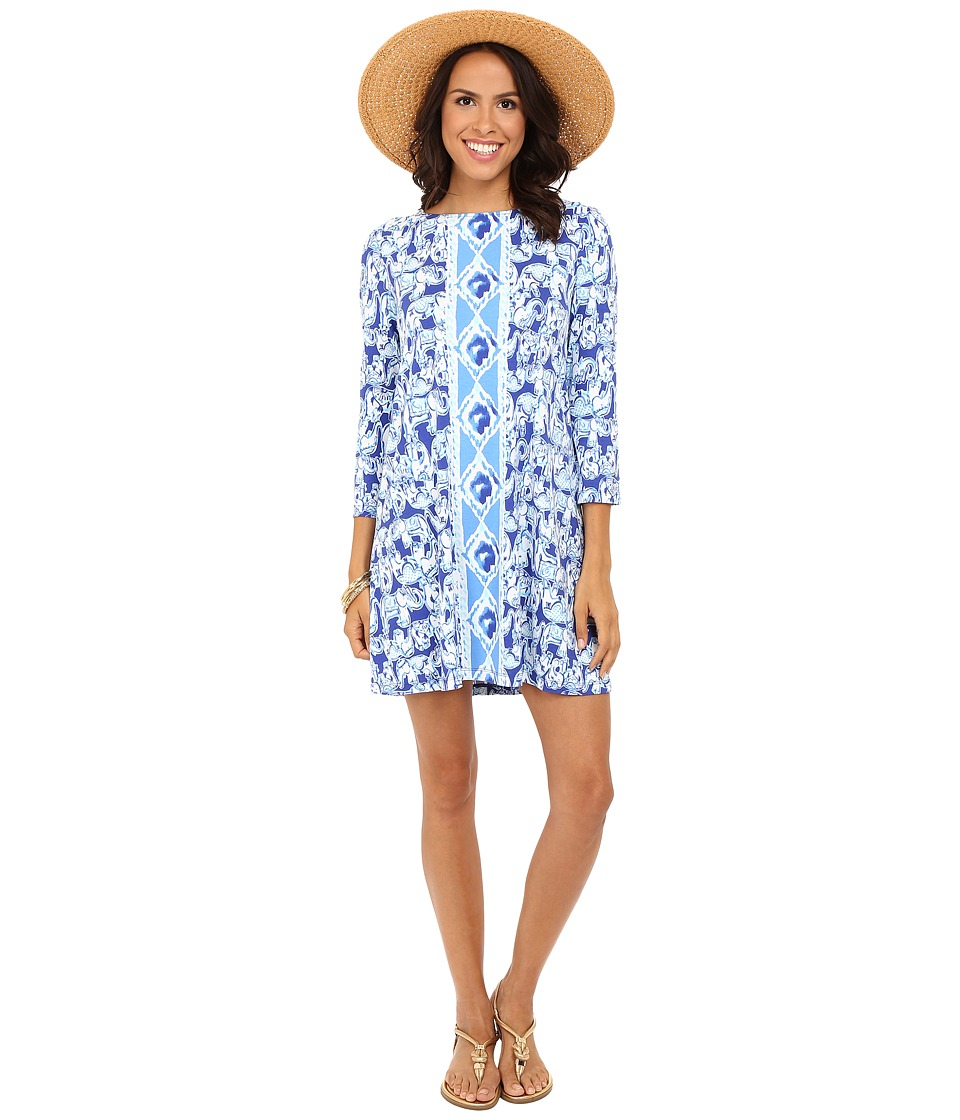 Lilly Pulitzer - Ophelia Dress (Bomber Blue Get Trunky Engineered) Women's Dress