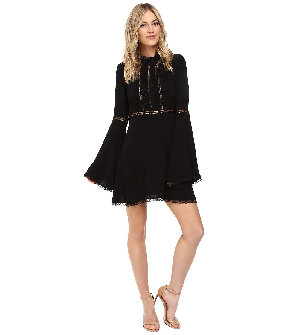 For Love and Lemons - Willow Bell Sleeve Dress (Black) Women's Dress