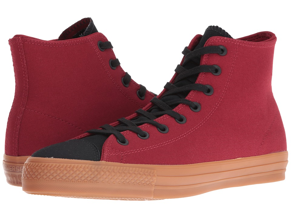 Converse - Chuck Taylor All Star Pro Suede Backed Canvas Mid (Back Alley Brick/Black/Gum) Shoes