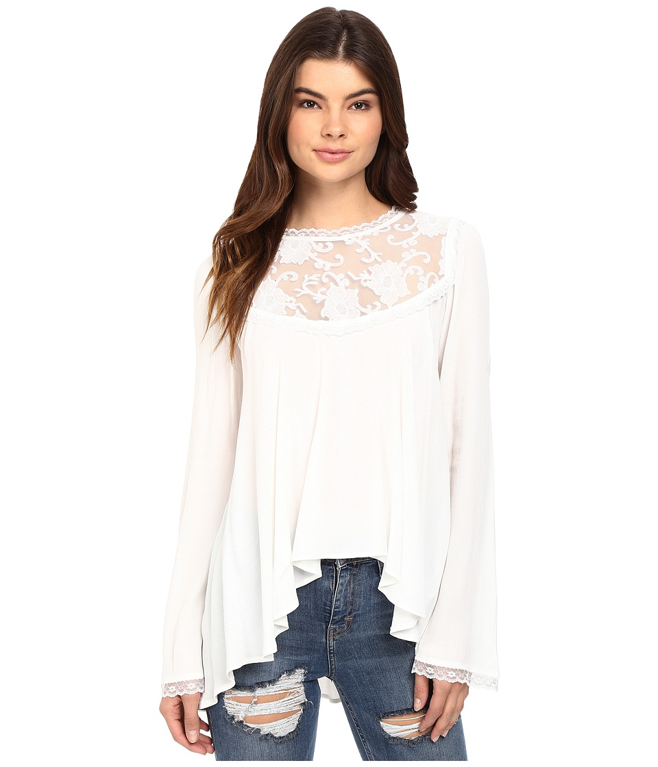 For Love and Lemons - Ellery Blouse (White) Women's Blouse