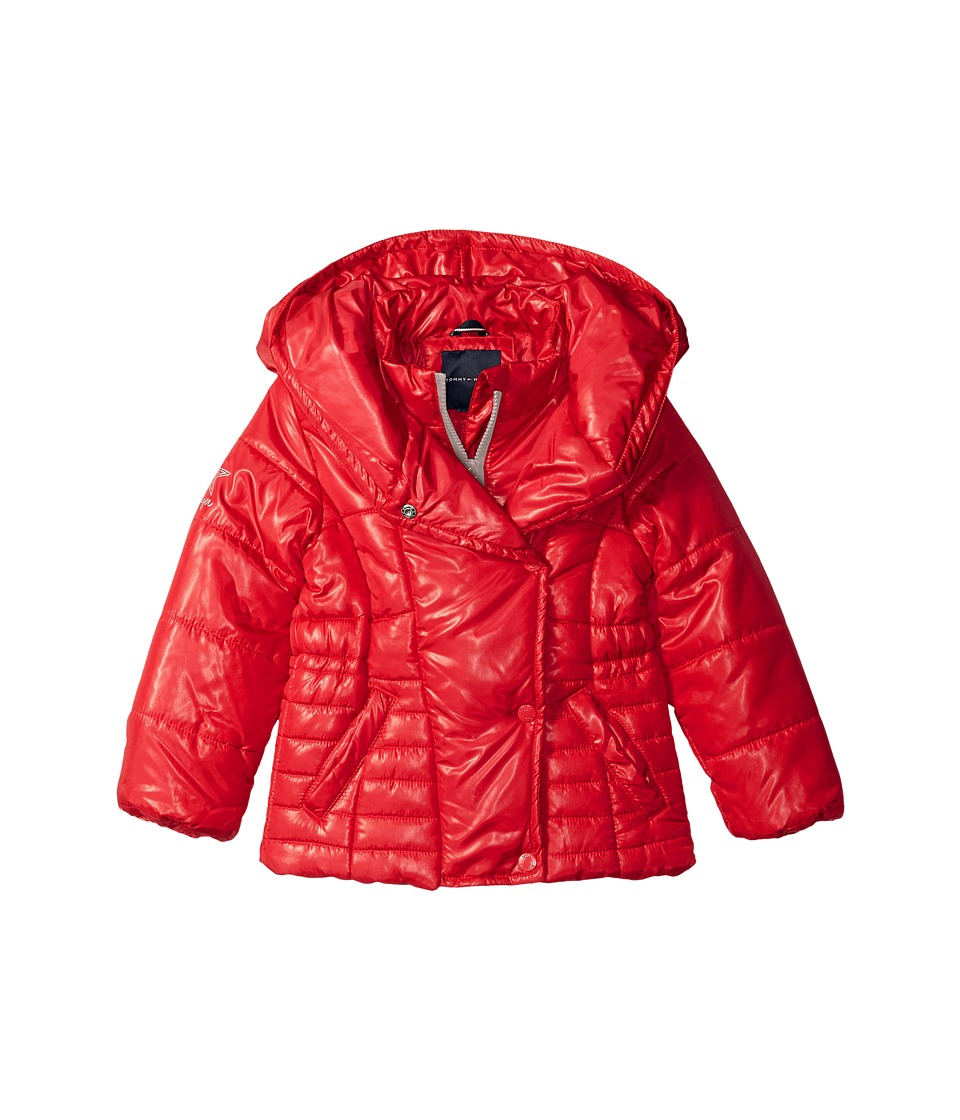 Tommy Hilfiger Kids - Pillow Collar Puffer Jacket (Big Kids) (Apple Red) Girl's Coat